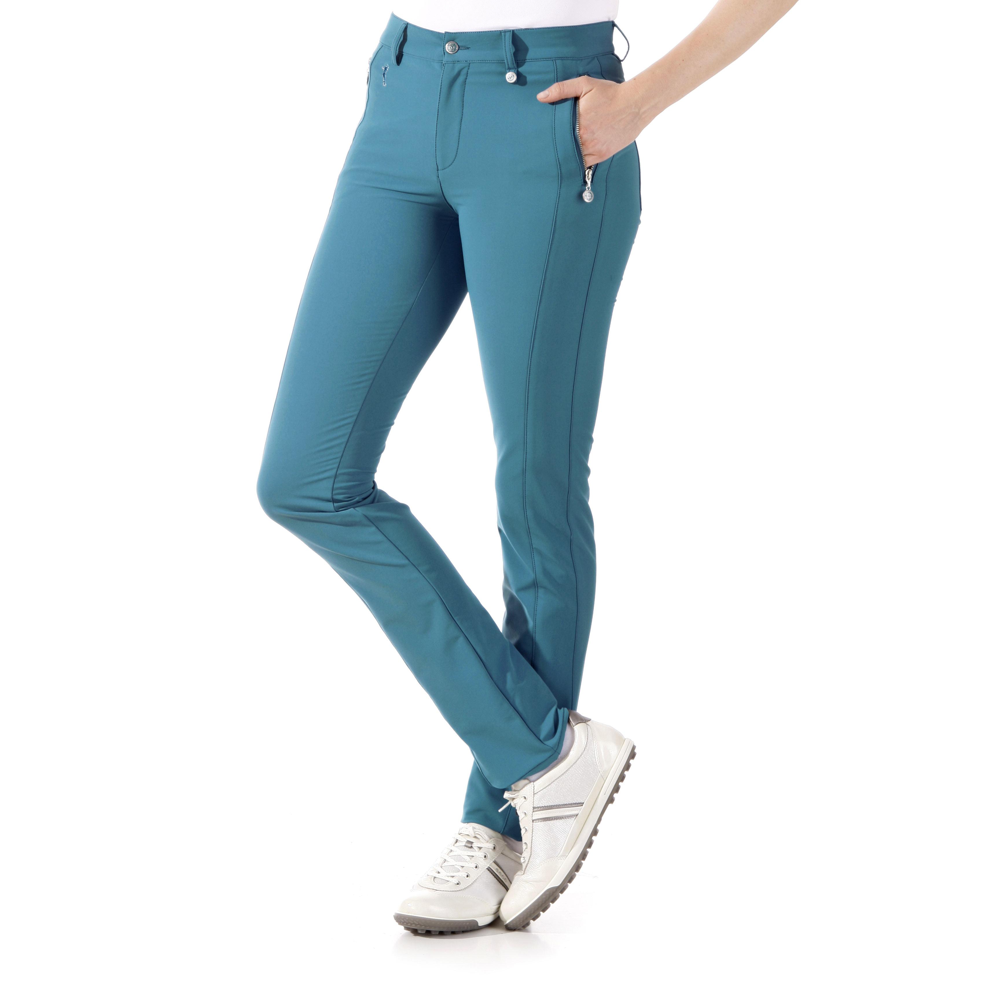 Hose aus gebürstetem 4-Way-Stretchmaterial