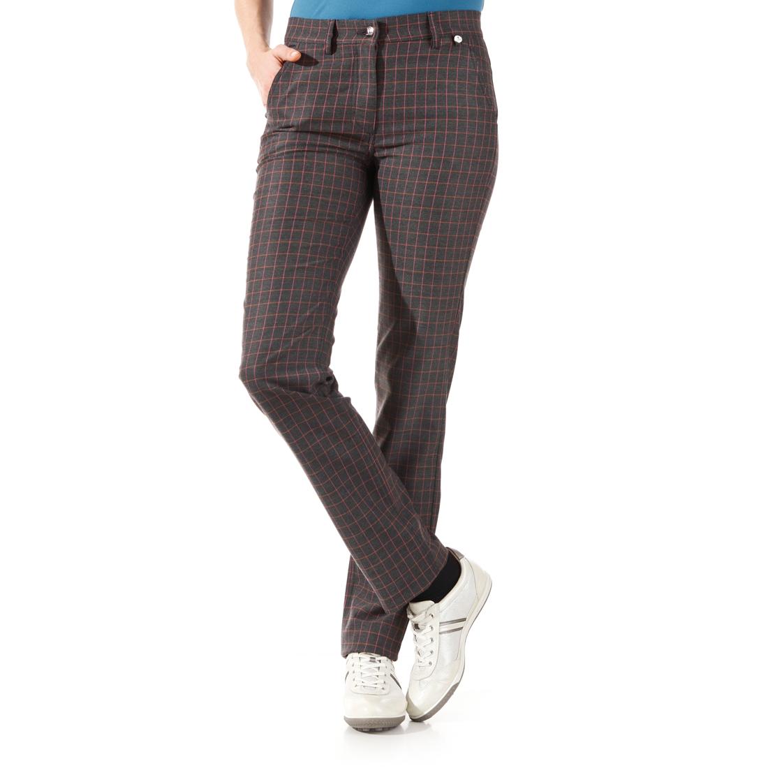Damen Karo-Golfhose aus Stretch-Material