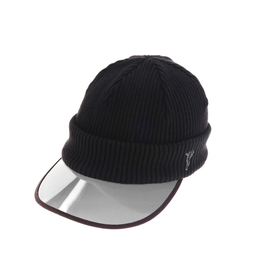 Strick-Cap mit transparentem Schirm