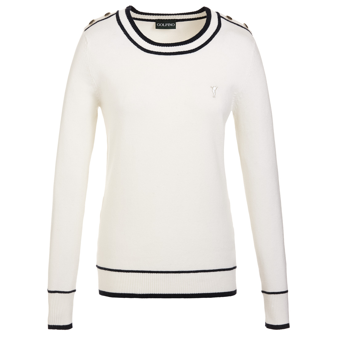 Ladies' round neck cold protection sweater with angora