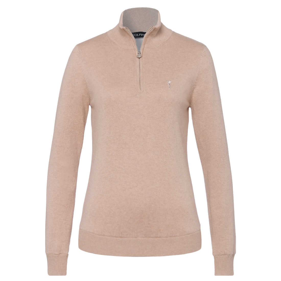 Soft cotton/cashmere ladies' Windstopper troyer