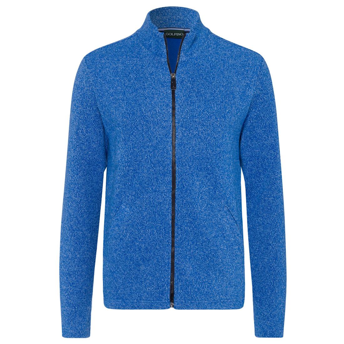 Herren Baumwoll Melange Jacke mit Taschen