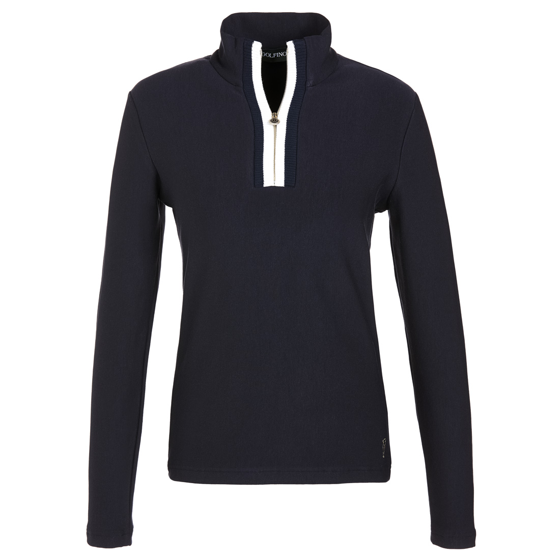 Damen Sweatshirt mit Troyer Kragen und Cold Protektion