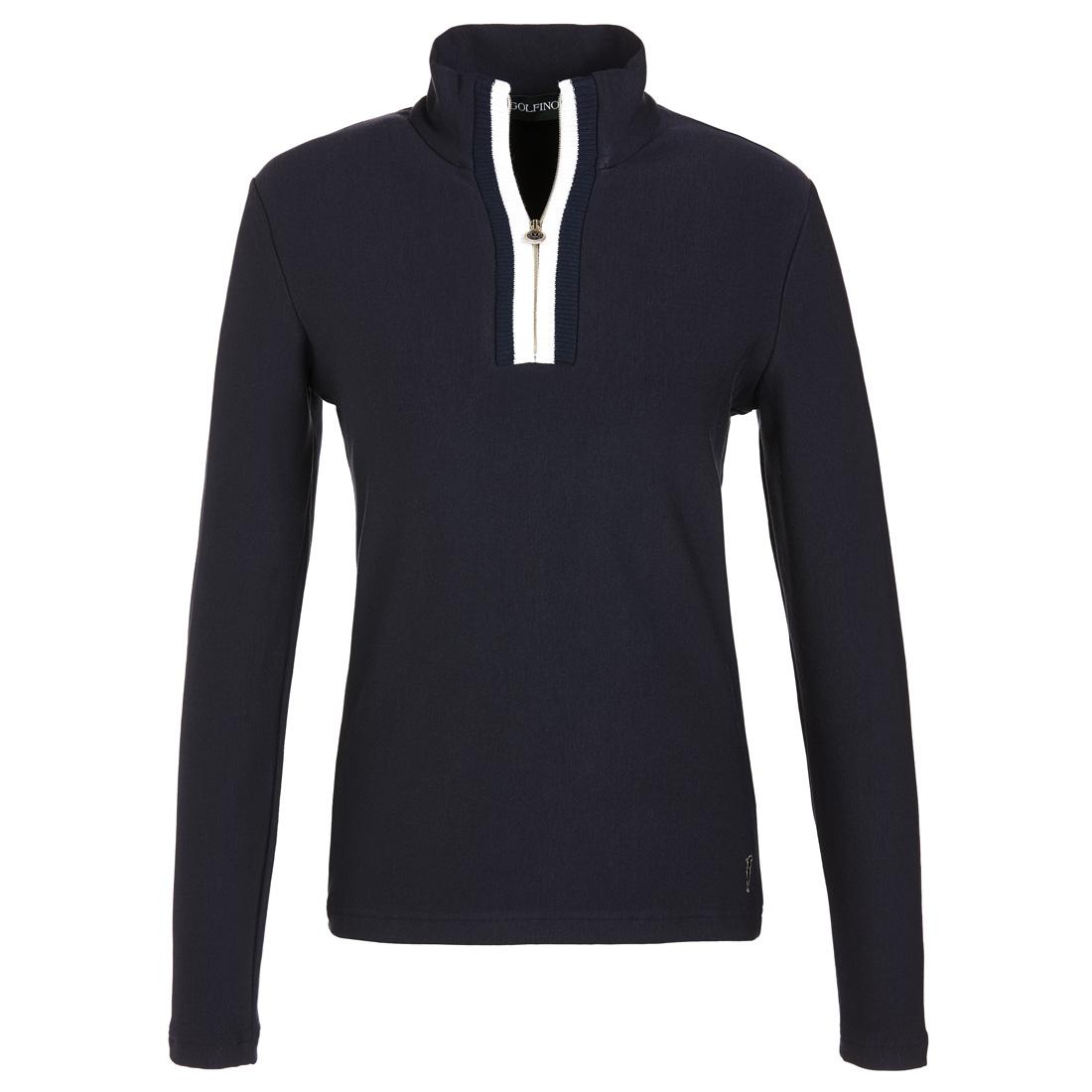 Damen Sweatshirt mit Troyer Kragen und Cold Protektion