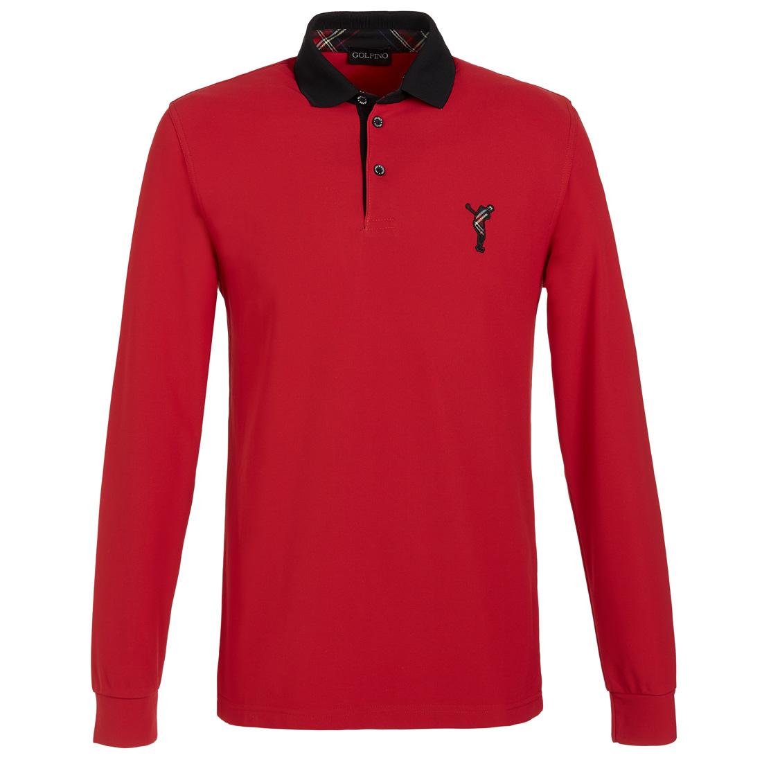 Premium Langarm Funktions-Golfpolo mit Moisture Management