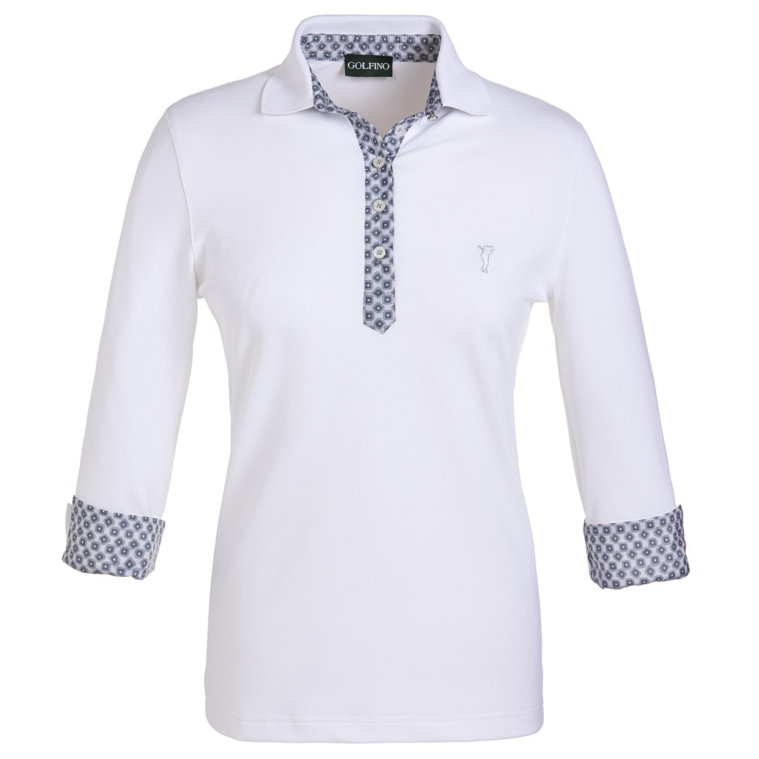 Damen 3/4 Arm Golfpolo mit Moisture Management Funktion