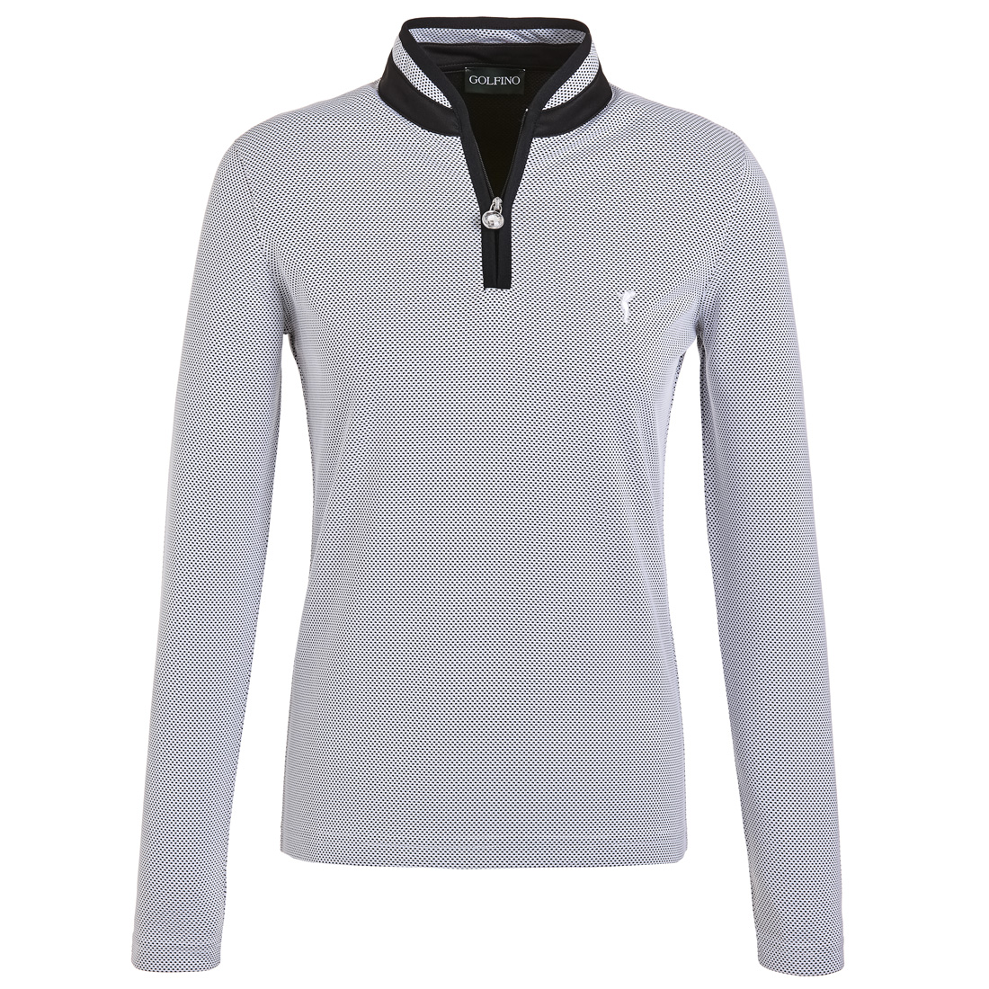 Bubble Jacquard ladies' long-sleeve functional polo with Quick Dry