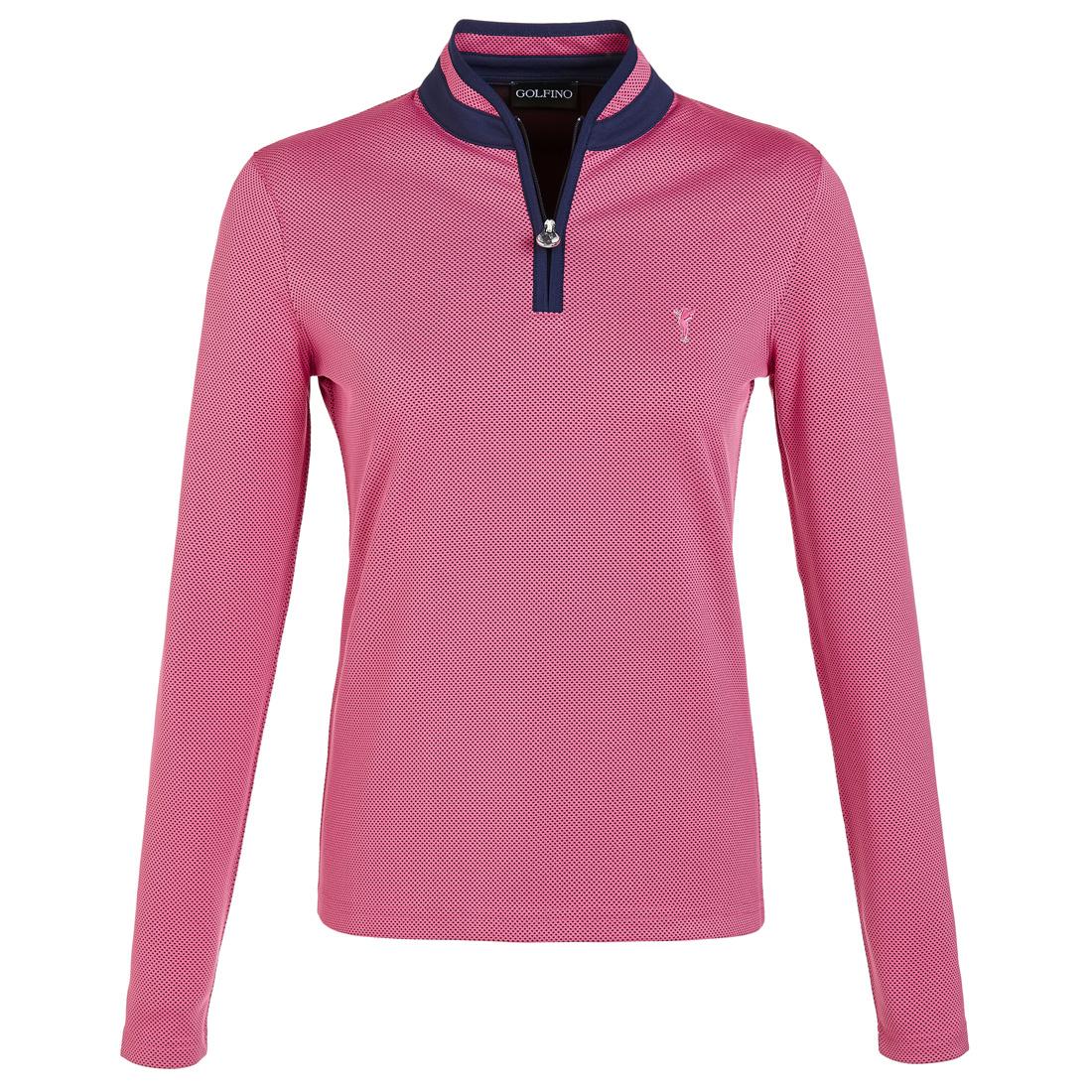 Jacquard Damen Golfunterzieher Quick Dry mit kurzem Kristall-Zip