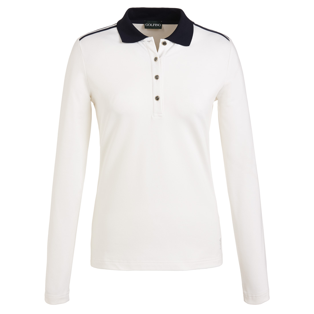 Ladies' long sleeve functional golf polo with sun protection