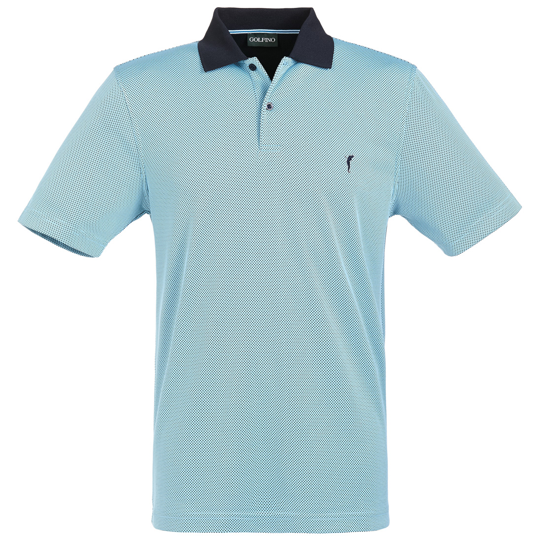 Bubble Jacquard Halbarm Funktions-Golfpolo Quick Dry