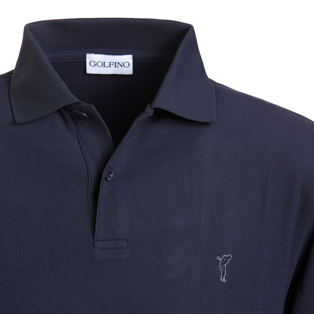 Herren Langarm Basic-Golfpolo mit Moisture Management in Regular Fit