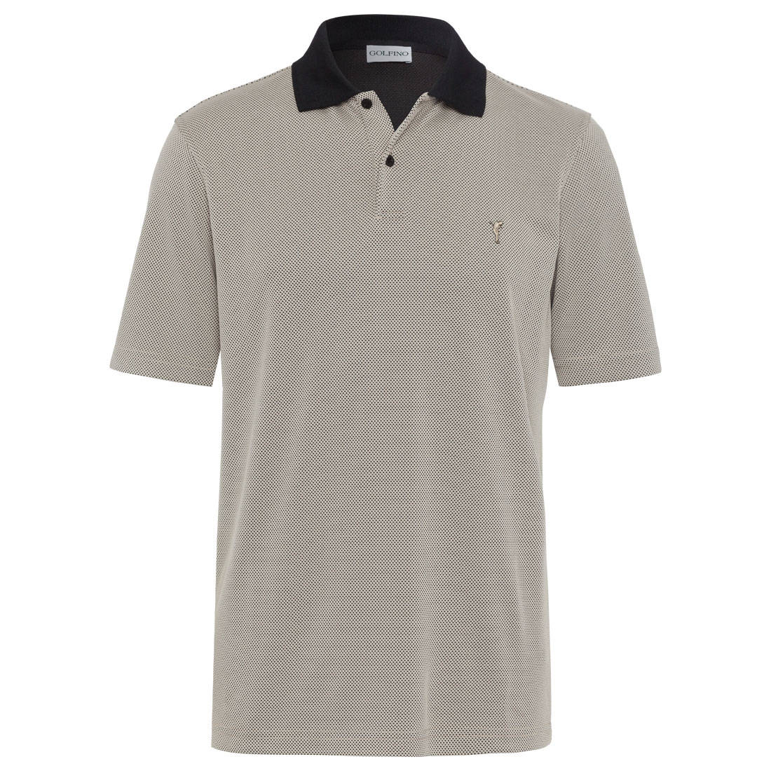 Bubble Jacquard Golfpolohemd High-Tech-Systems