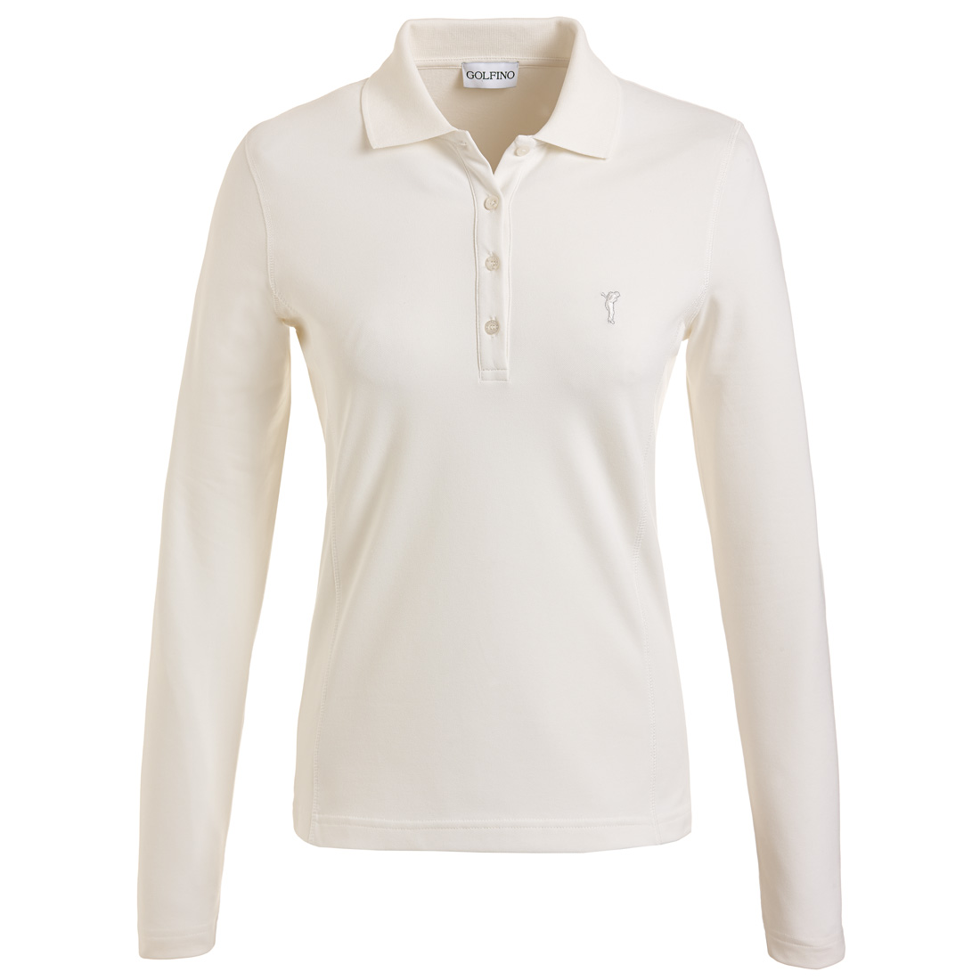 Damen Langarm Stretch-Golfpolo mit Sun Protection