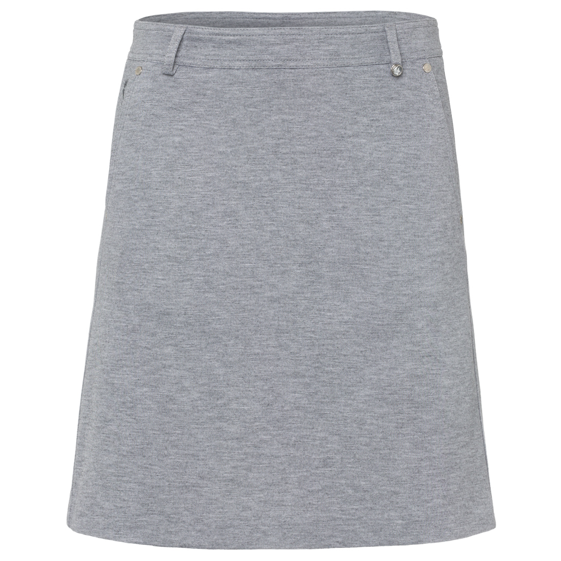 Long stretch golf skort in melange functional material with incorporated shorts