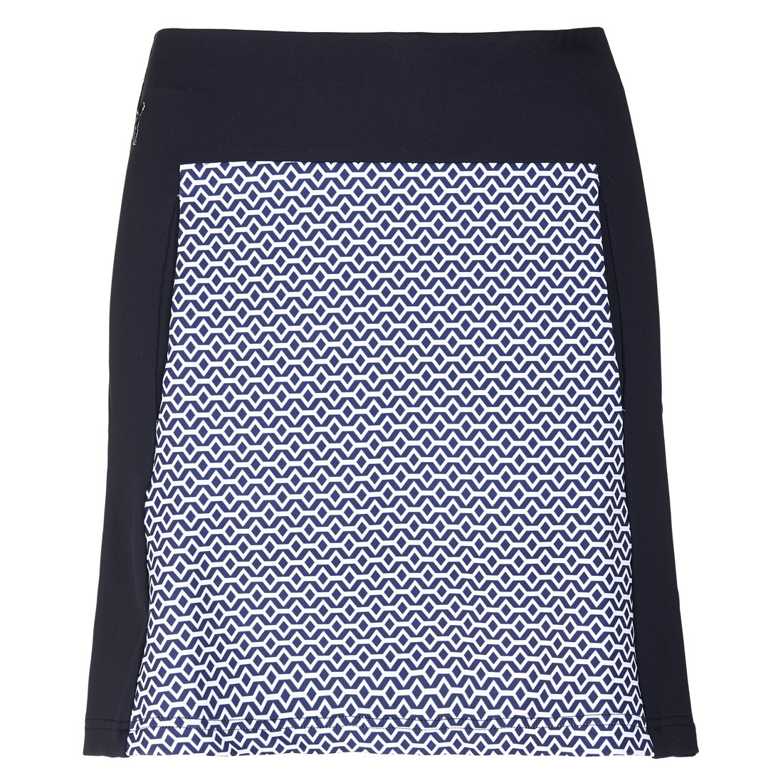 Dry comfort jersey golf skirt with printed pattern and incorporated shorts