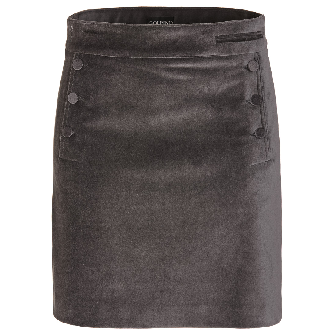 Velvet golf skort in exclusive stretch material with incorporated shorts