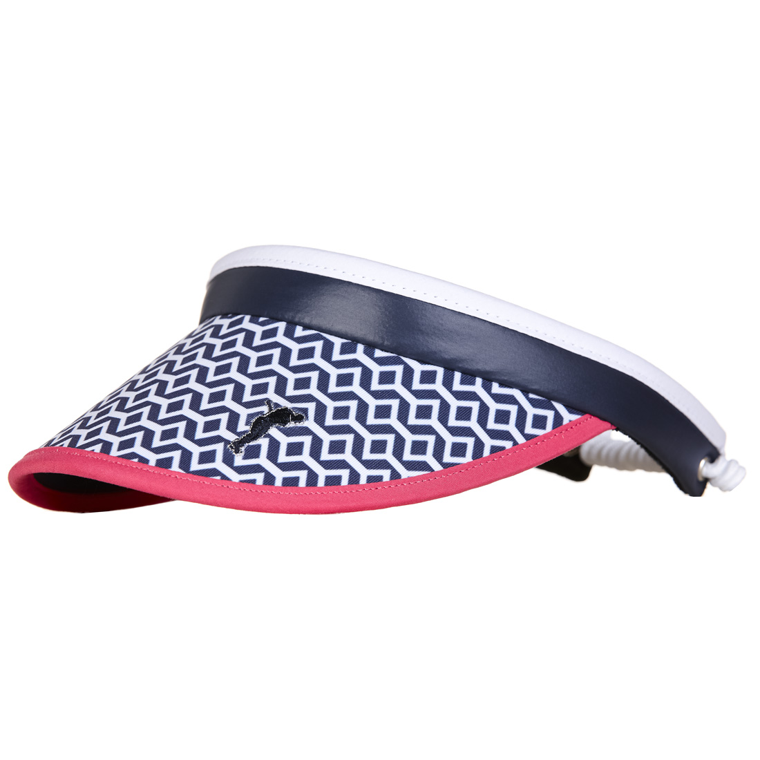 Modischer Golf-Visor mit Allover-Print in Onesize