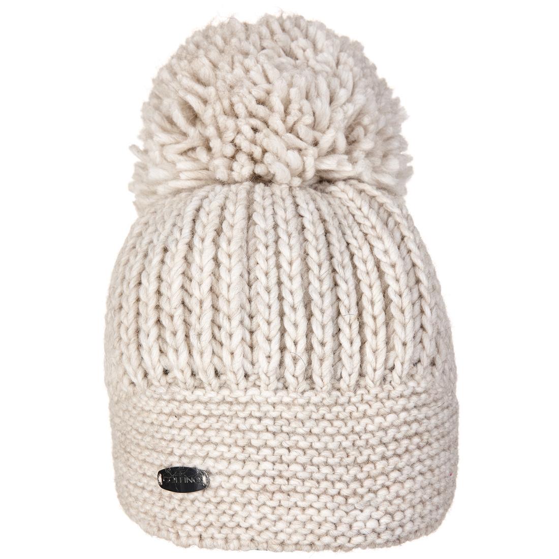 Strickmütze Cold Protection mit Pompon aus feimem Alpaka-Mix