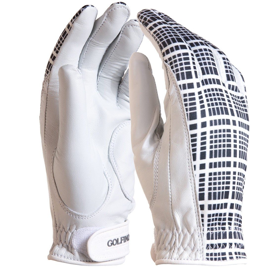 Checked golf gloves