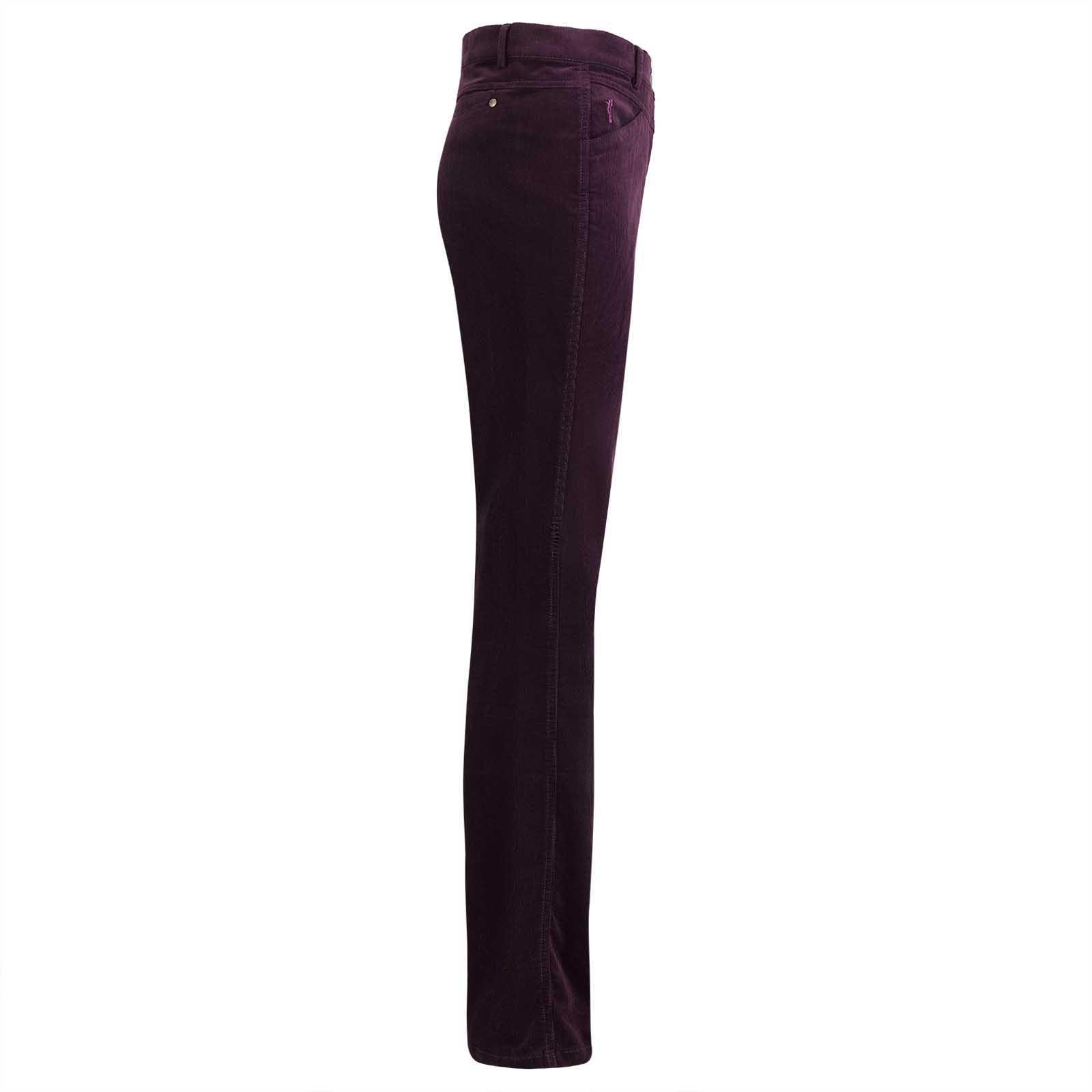 Gerade geschnittene Damenhose aus hochwertigem Stretch-Cord