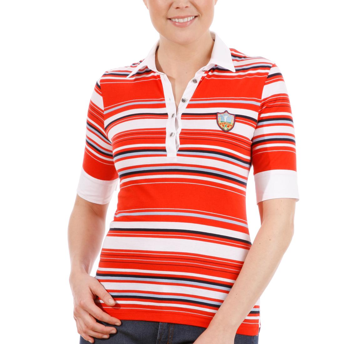 Gestreiftes Jersey-Poloshirt