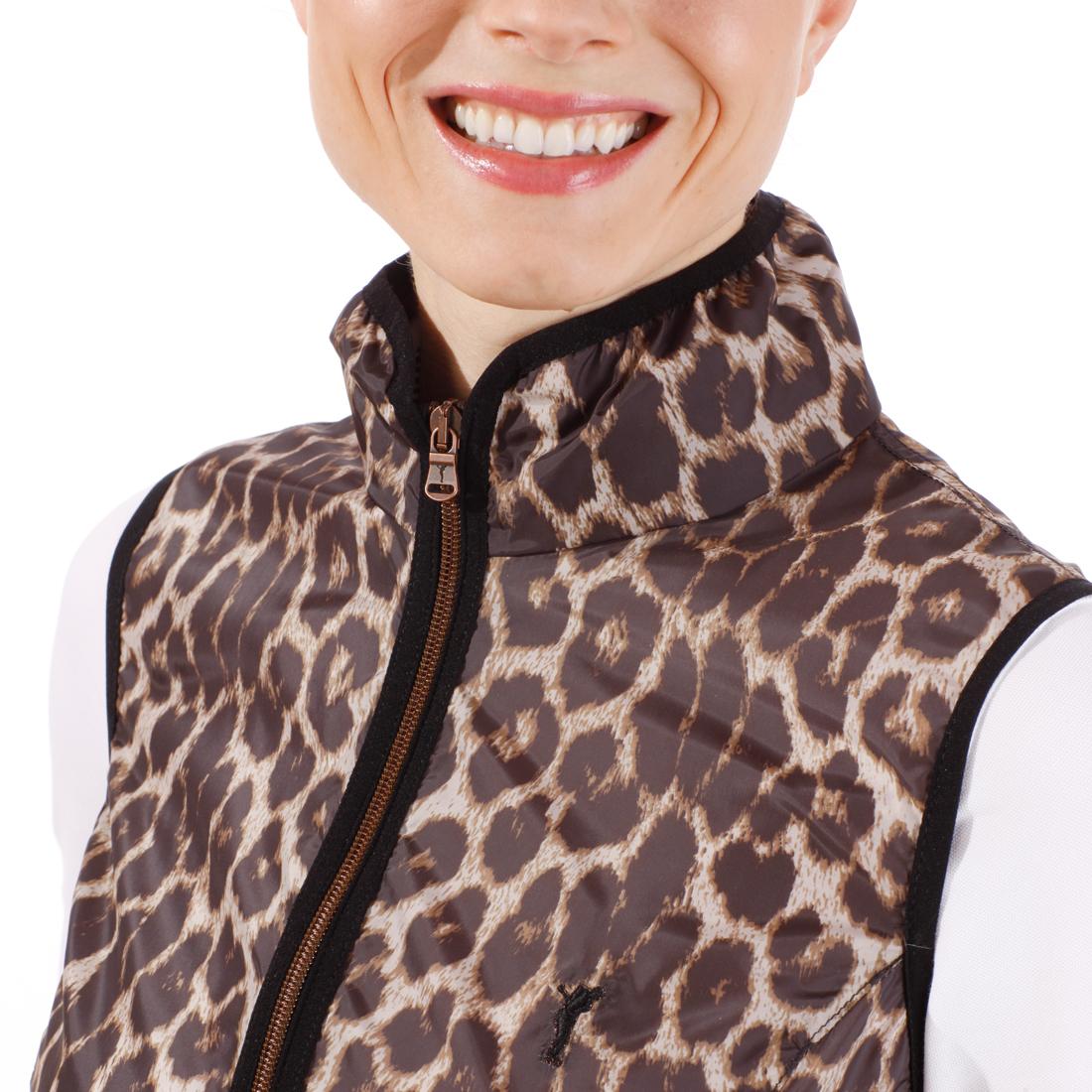Weste mit Leopardendruck