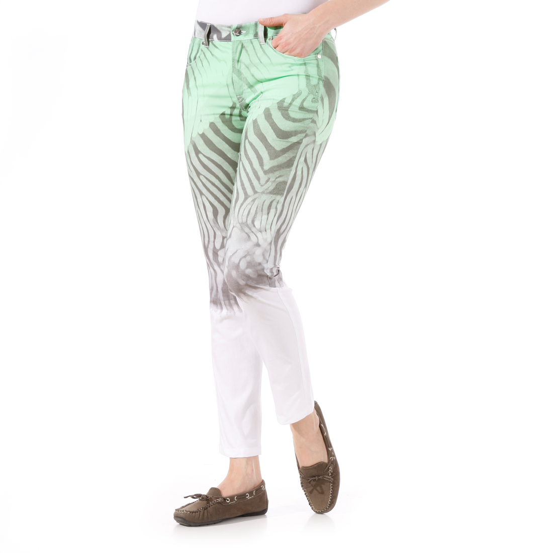 7/8-Hosen mit exklusivem Zebraprint