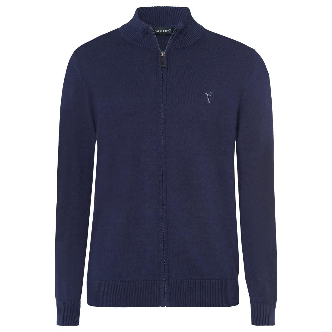 Herren Golf Strickjacke aus feiner Baumwolle