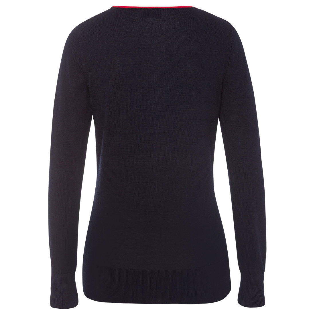 Damen Pullover mit raffiniertem Strick-Muster Streifen
