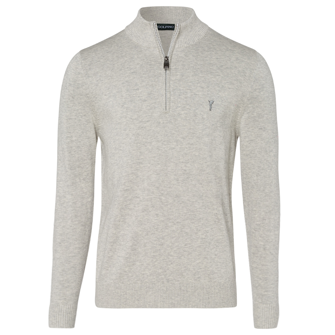 Men's knitted half-zip