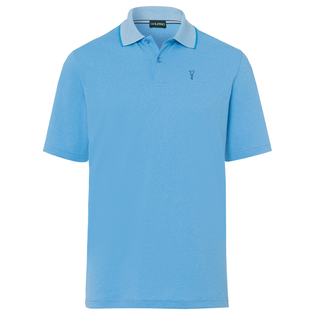 Melange Bubble Jacquard Polo