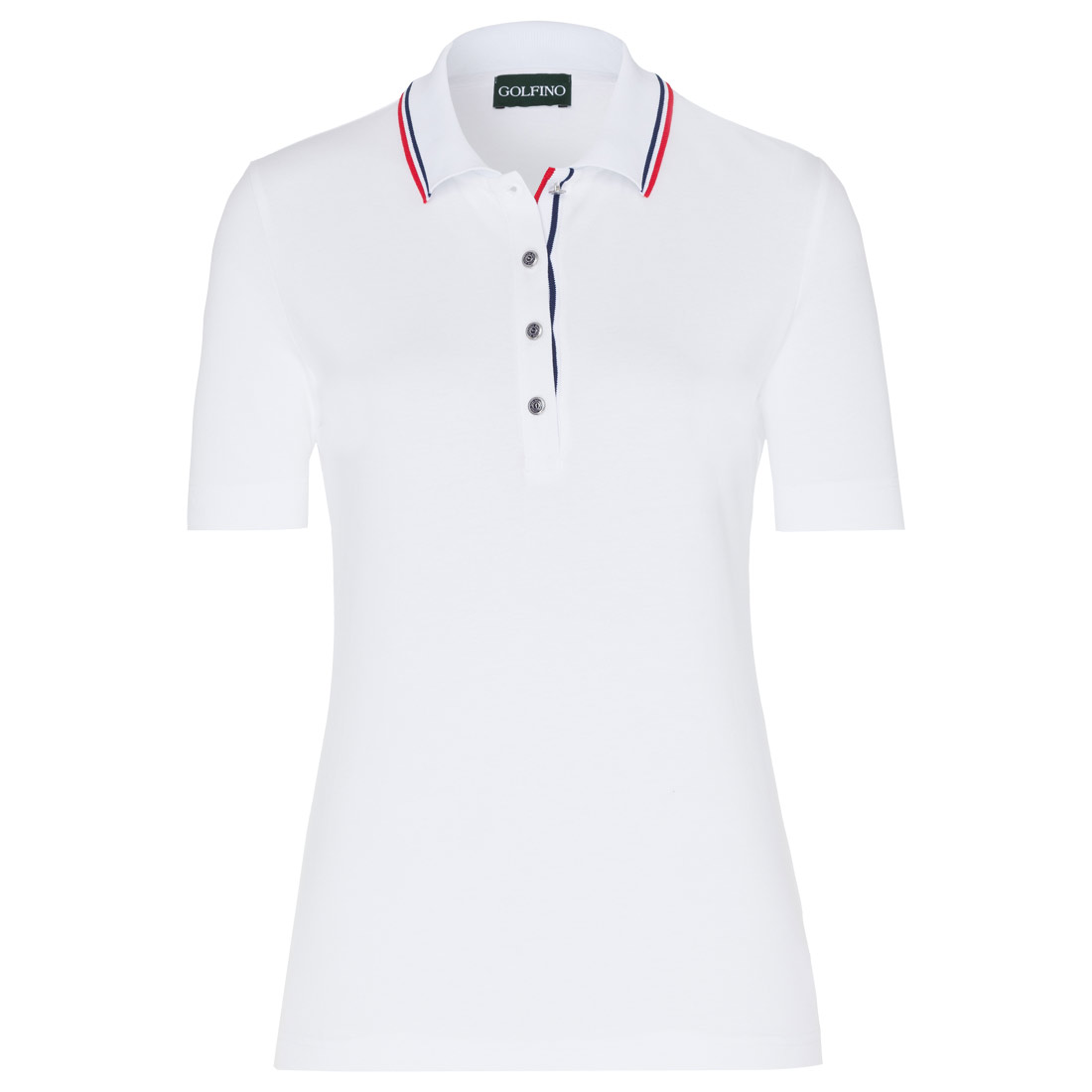Ladies' polo with contrast elements