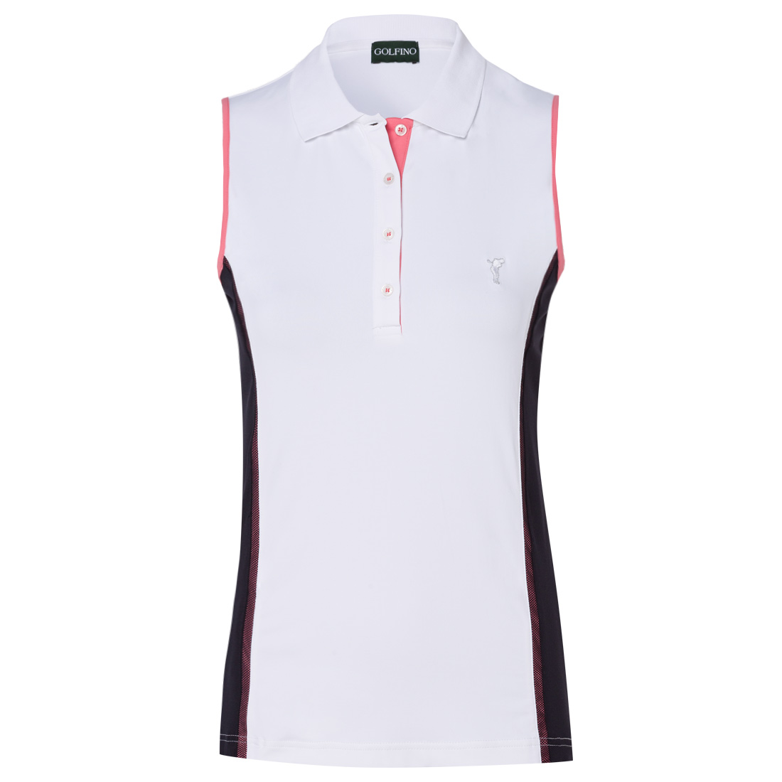 c80a10f7575592 GOLFINO Ladies  polo with contrast inserts shop online