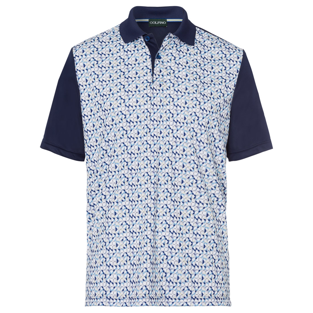 Herren Polo mit Musterpartie
