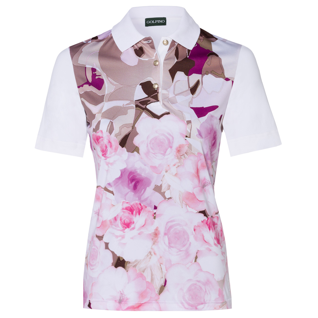 Ladies' flower pattern polo