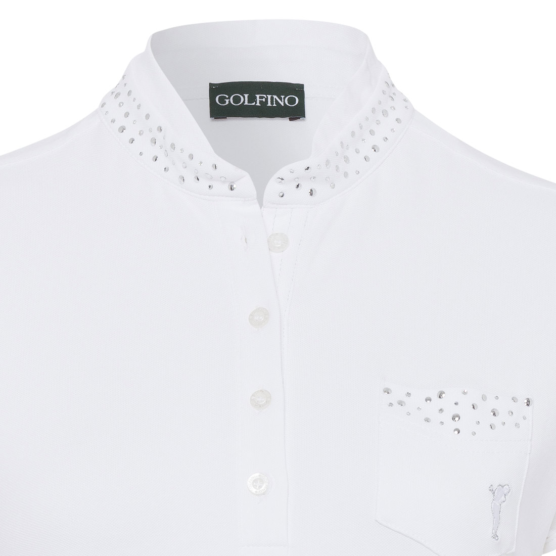 Damen Polo mit Glitzernieten