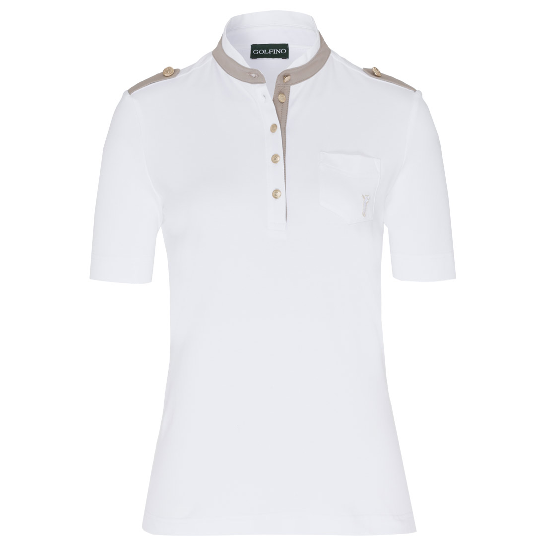 Ladies' polo with shoulder tabs