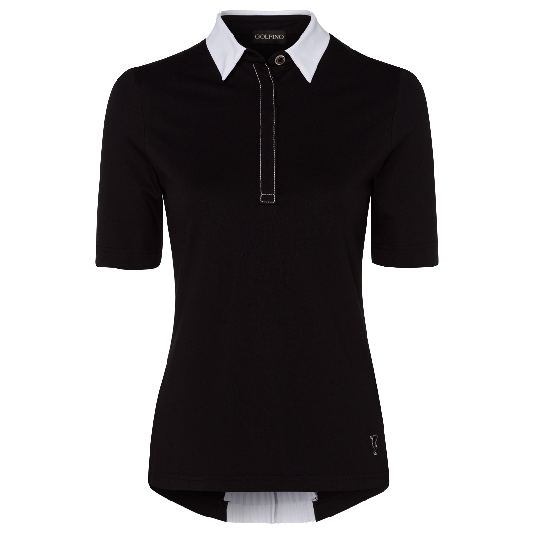 Ladies' polo with rear zip