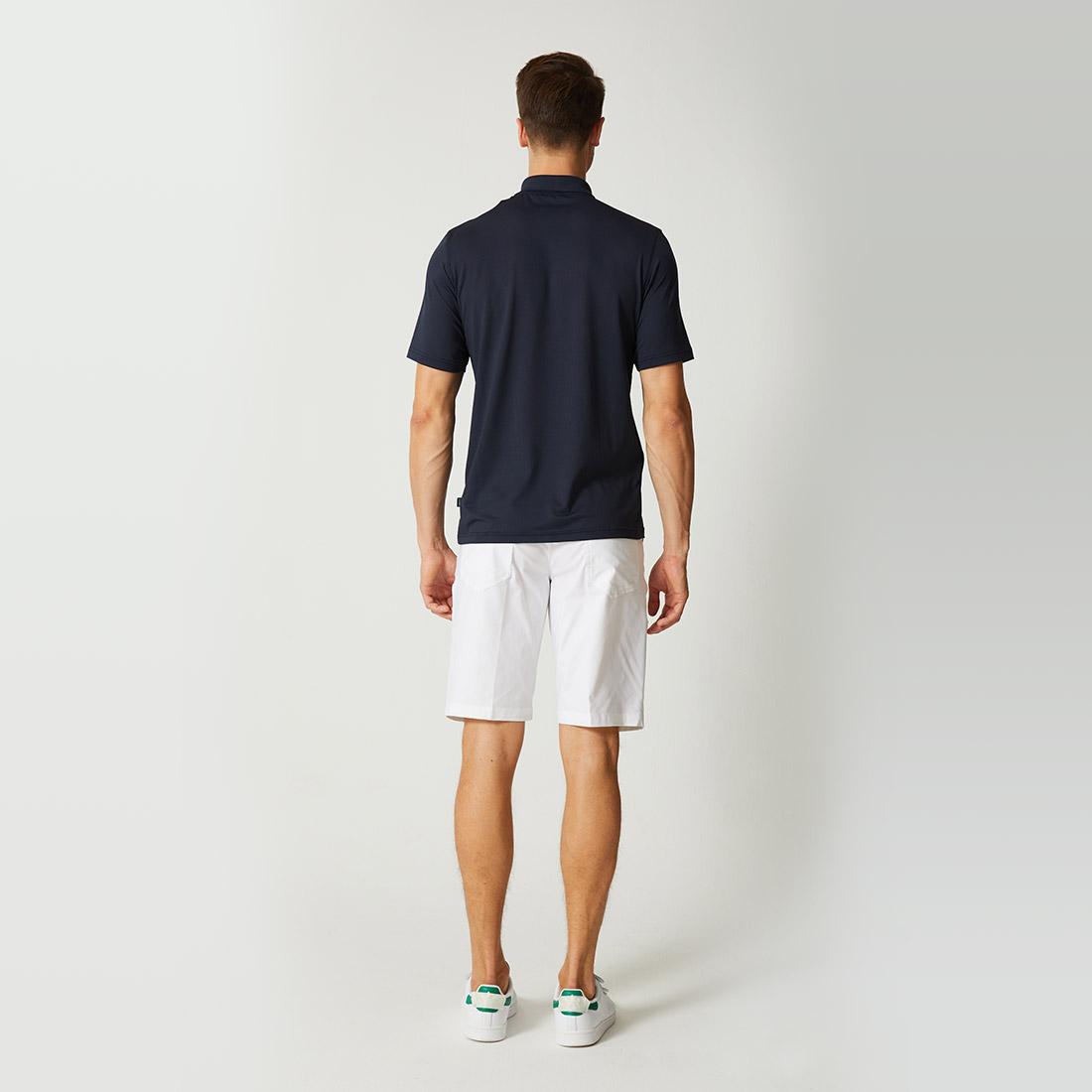 Herren kurzarm Funktions-Golfpolo aus besonders hochwertigem Jacquard