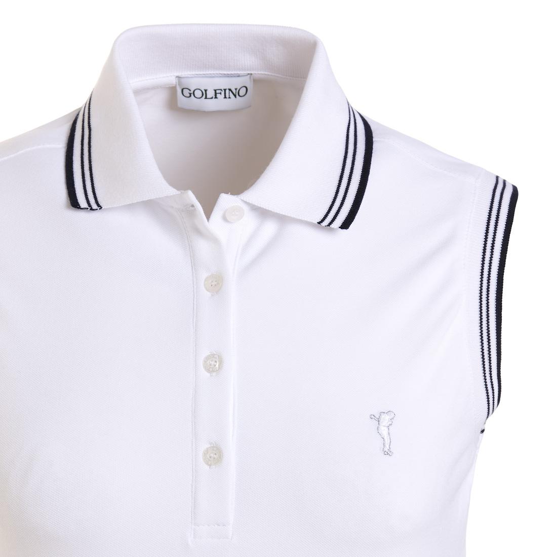 Ärmellose Damen Golfpolohemd