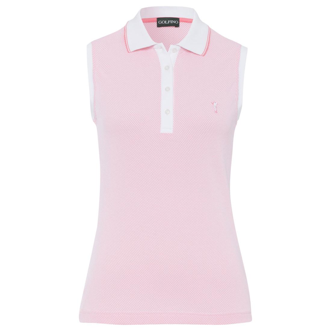 Ärmelloses Damen Golfpolo leicht und atmungsaktiv