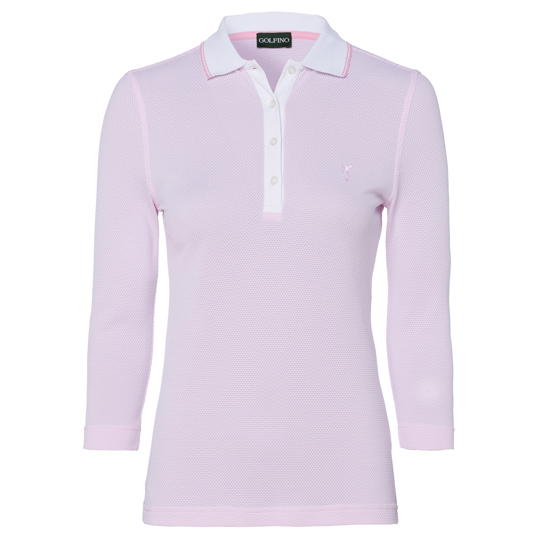 Damen 3/4-Arm-Golfpolo