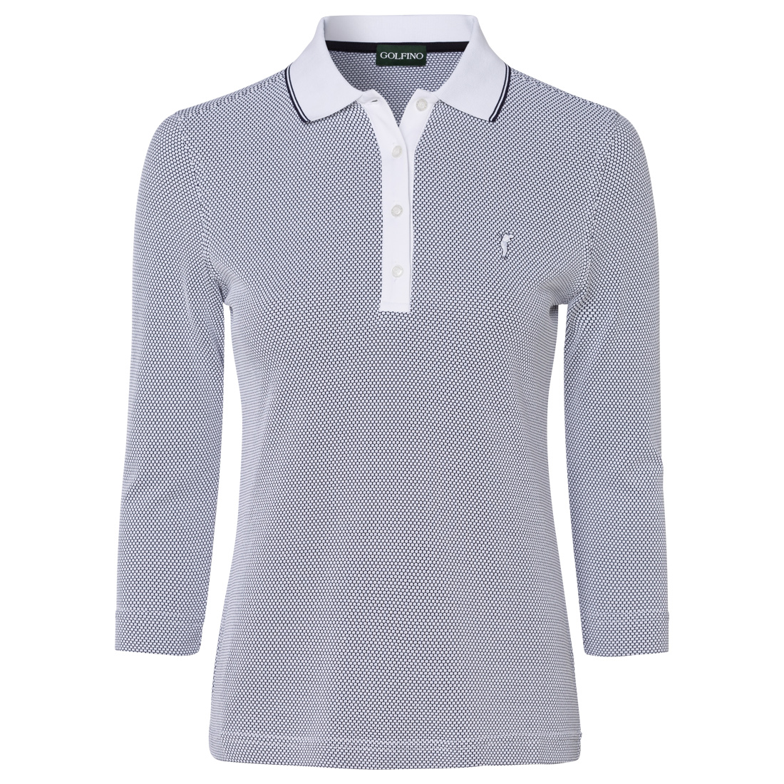 Ladies' 3/4 sleeve golf polo