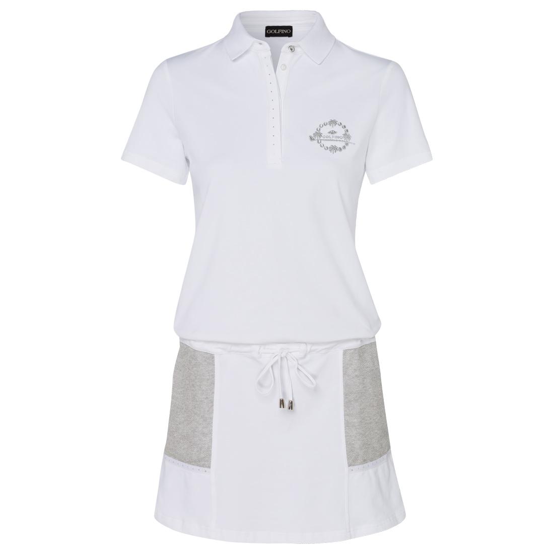 Piqué Kleid mit Kurzarm