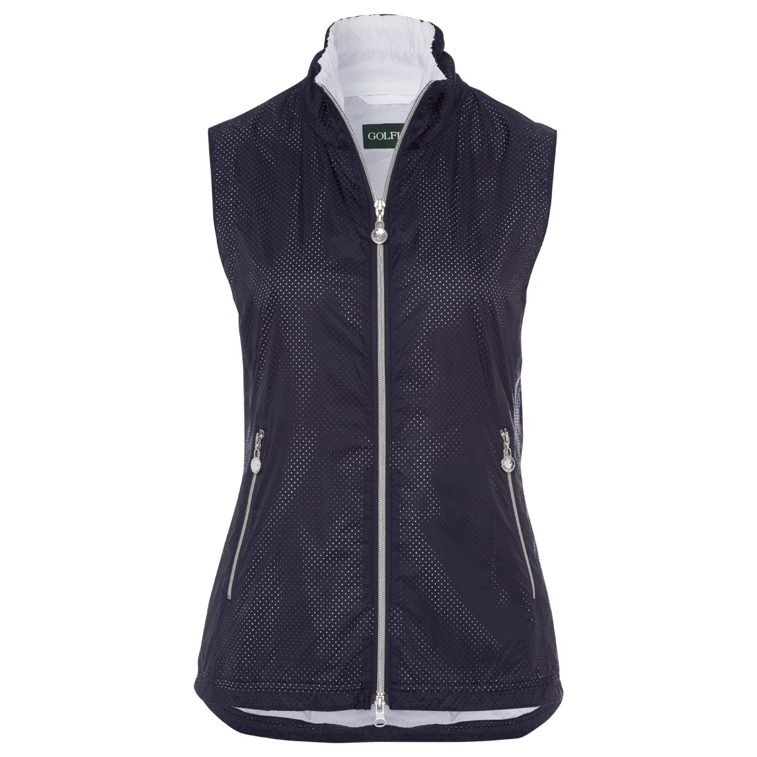 Ladies' gilet with dot effect