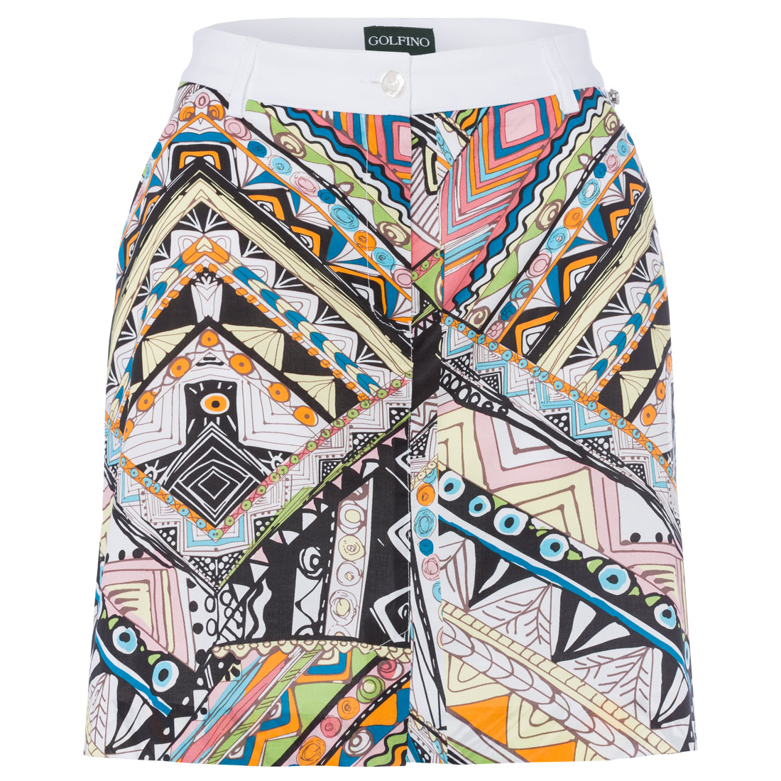 Ladies' skort with all-over pattern