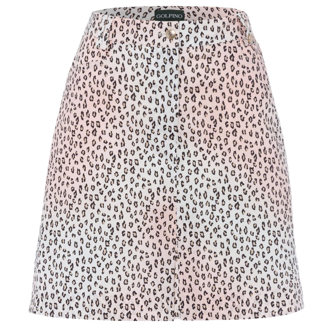 Falda pantalón de señora con estampado de animal