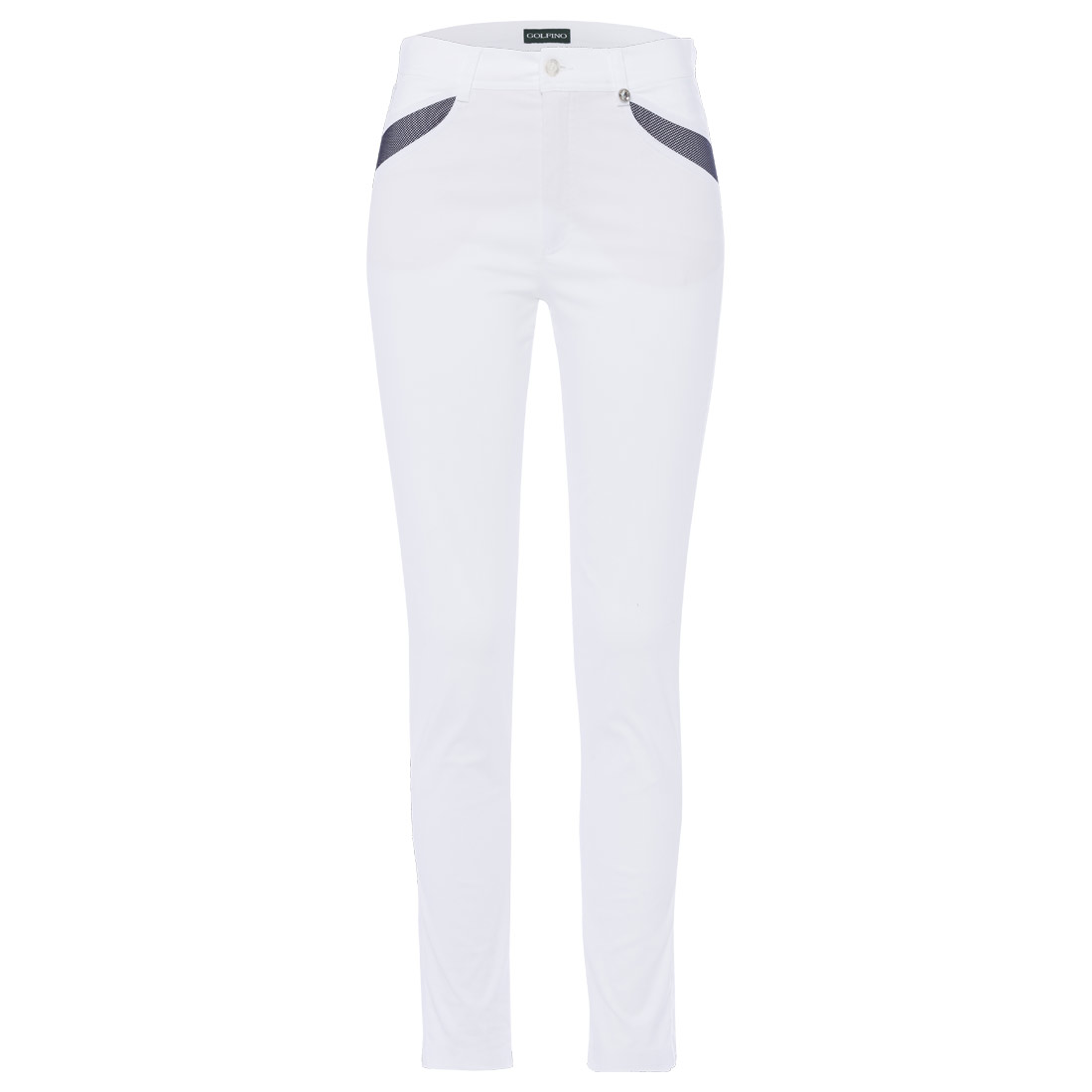 Ladies' trousers with mesh inserts