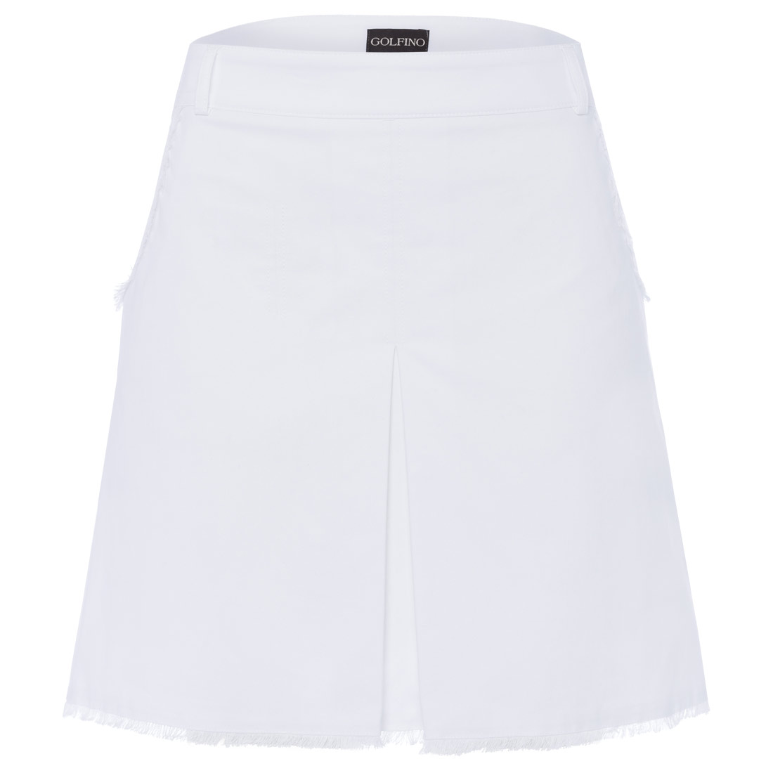 Ladies' skort with fringed edges