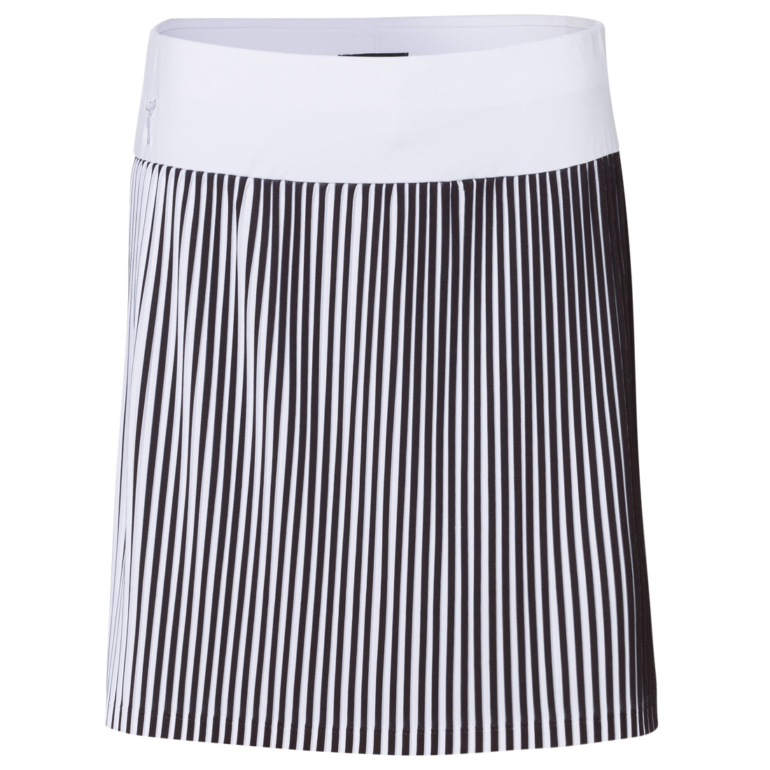 Ladies' skort with stripe pattern